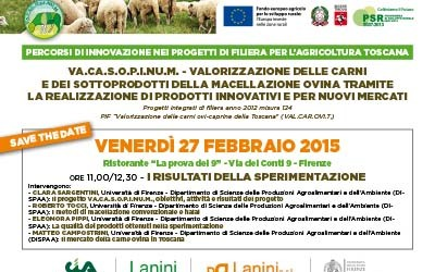 27 febbraio 2015, i risultati della sperimentazione del progetto VA.CA.S.O.P.I.NU.M. a Firenze