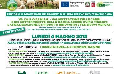 4 maggio 2015, i risultati della sperimentazione del progetto VA.CA.S.O.P.I.NU.M. all'Università di Firenze