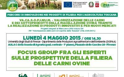 4 maggio 2015, Focus group tra gli esperti sulle prospettive della filiera delle carni ovine all'Università di Firenze