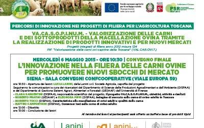 6 maggio 2015, convegno conclusivo del progetto VA.CA.S.O.P.I.NU.M. a Siena